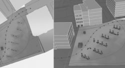 Simulating Visibility in Small Public Spaces